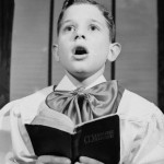 Choir Boy Singing Hymn