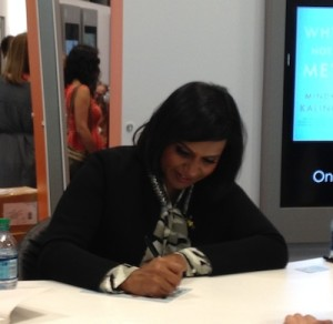 Got to see the beautiful and funny Mindy Kaling and snap this picture just before Security told me to scram.