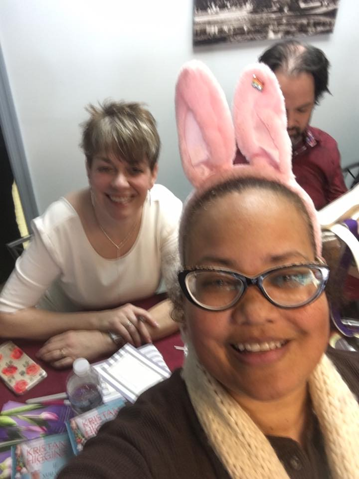 Anyone who wears bunny ears to a book signing is my kind of person.