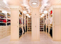 This is Mariah Carey's closet. I think someone needs to give more to charity, don't you?